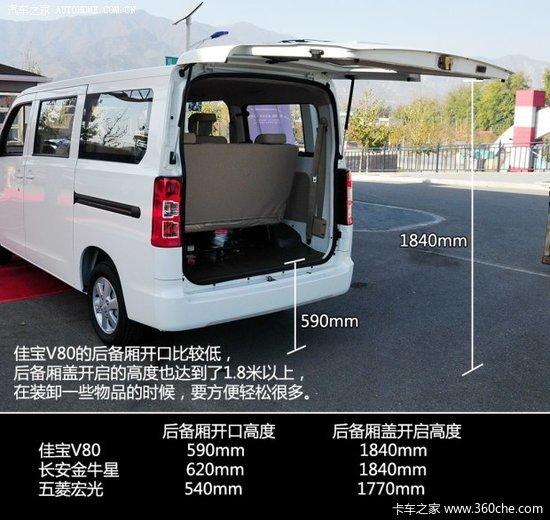 空间宽敞且乘坐舒适 试一汽吉林佳宝V80高清图片