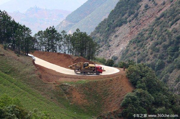 专治疑难杂路 江淮平板运输车跟车体验