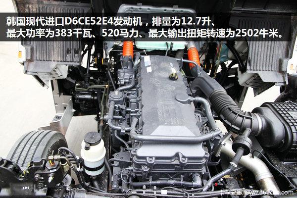配zf自动变速箱 520马力创虎牵引车图解