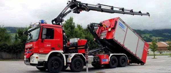 一车多用安普WLF拉臂钩式多功能消防车