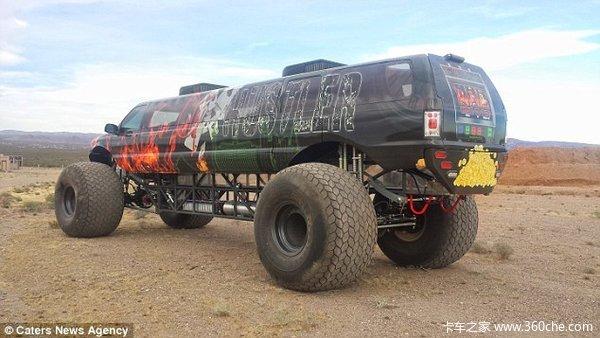 高4米售价千万美推出巨无霸沙漠越野车
