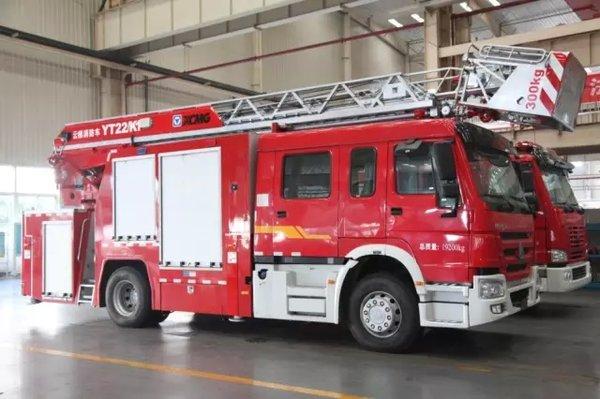 城市先锋卫士徐工YT22消防车顺利下线