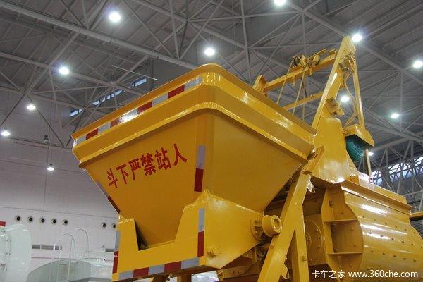 武汉车展:小块头大效率车载式搅拌拖泵