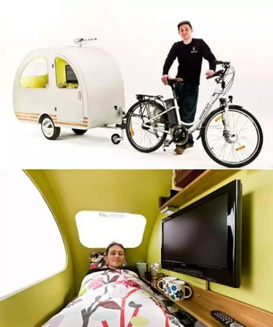 城里人会玩 老年代步车都能改造成房车高清图片