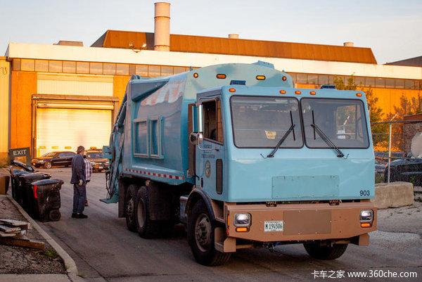 我是惊呆了!国外的垃圾车原来长这么帅
