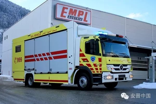 消防车也很黄!进军卡塔尔的安普救援车
