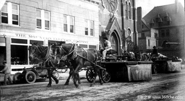 你不知道的老历史清扫车的祖宗是马车