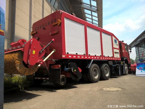 直击东北亚环卫展3台发动机的除冰雪车