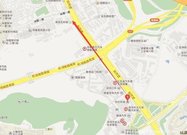 地图 深圳卡车4s店都在这高清图片