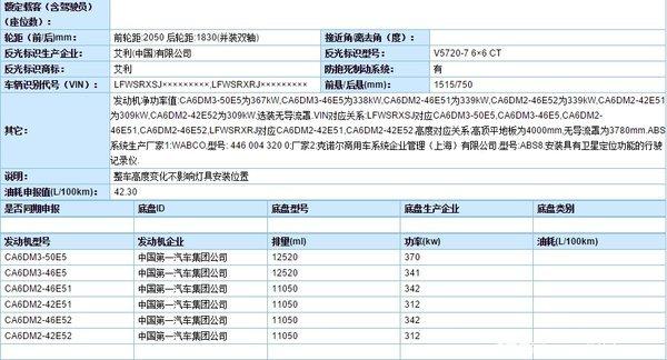 解放J7现身工信部新车上市指日可待!