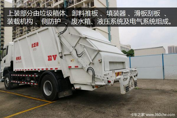 压缩式<a href='http://www.rlqcgs.com/LaJiChe/'>垃圾车</a>只用电比亚迪T8A深圳实拍