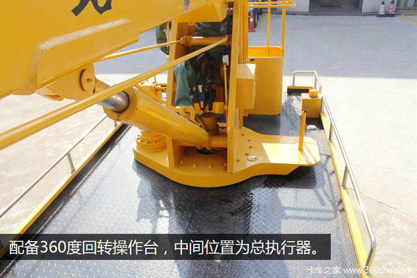 折叠臂最高达14米实拍江铃高空作业车