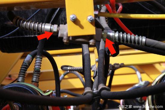 驻车制动管路分配阀接口示意图-半挂车制动系统设计简介与故障应急图片